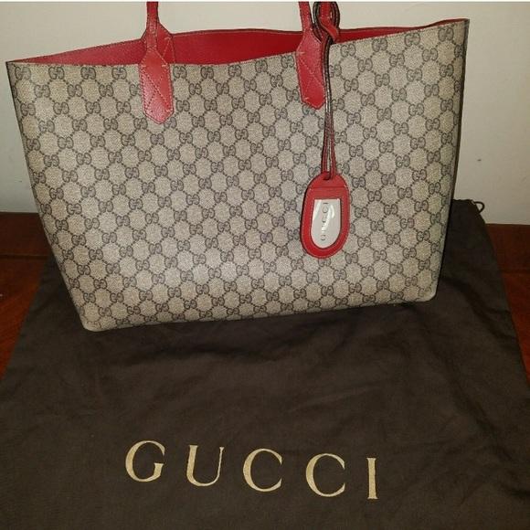 1b9880bd6 Gucci Bags | Reversible Gg Medium Tote | Poshmark
